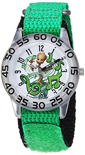 Marvel Boy's 'Guardian' Quartz Plastic and Nylon Casual Watch, Color:Green (Model: WMA000140)