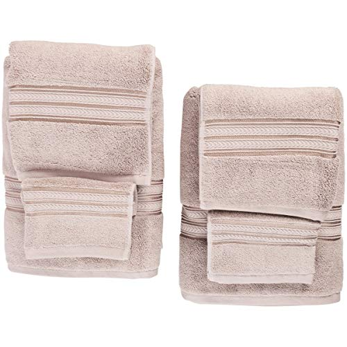 Better Homes Gardens Thick Plush Solid Bath Collection,6-Piece Set,Taupe Splash