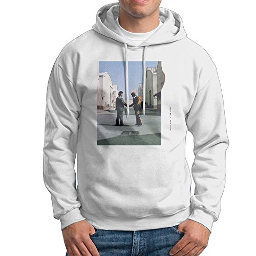 Men's Organic Cotton Wish You Were Here By Pink Floyd Hoodie White