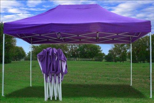 10 215 15 Pop Up 4 Wall Canopy Party Tent Gazebo Ez Purple