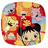 "Amscan Playful Ni Hao Kai Lan Birthday Party Divided Lunch Paper Plates Tableware (8 Pack), 9"", Red/Yellow"