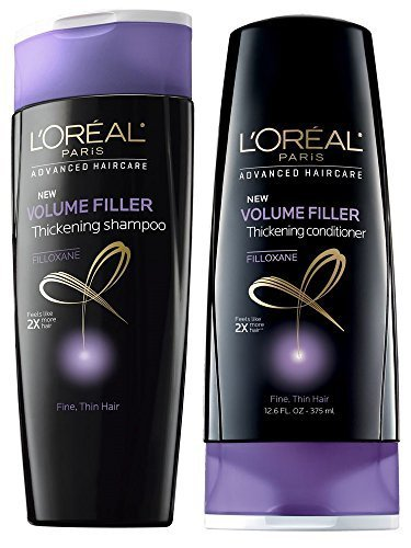 L'Oreal Paris Elvive Volume Filler Thickening Shampoo and Conditioner Set, 12.6 Ounce Each