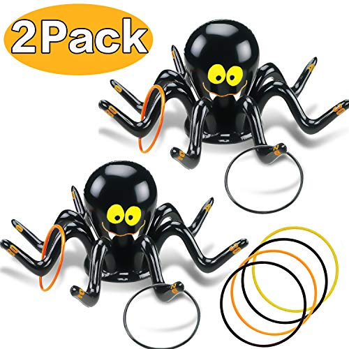 The Perfect Halloween Party (AMENON Inflatable Ring Toss Game, Perfect for Halloween Party Games Fun Indoor Outdoor Activities Game Halloween Party Favors School Carnival Family Game Birthday Holiday Party Toys for Kids)