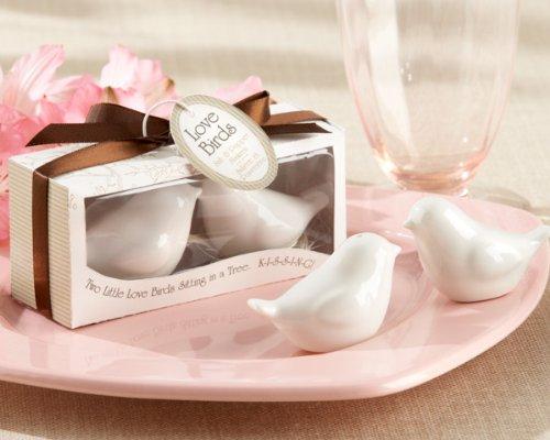 Lovebirds in the Window Ceramic Salt and Pepper Shakers
