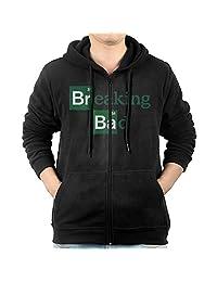 Fashion Breaking Bad Logo Full Zip Hoodie Kangaroo Pocket For Men