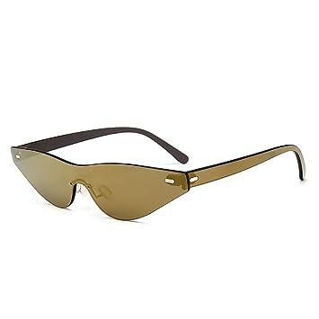 FHTD Gafas de Sol con Montura Pequeña Retro Skinny Estrecha ...