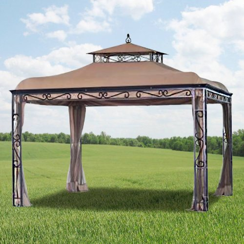 garden winds replacement canopy for mongolia gazebo