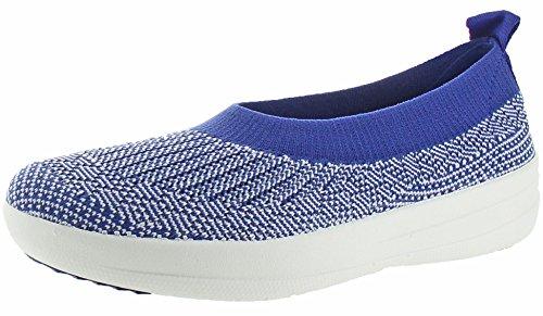 Blu scarpe Ballerina Mazarine Donna Slip Uberknit bianca chiuse on Fitflop qwp8SI6