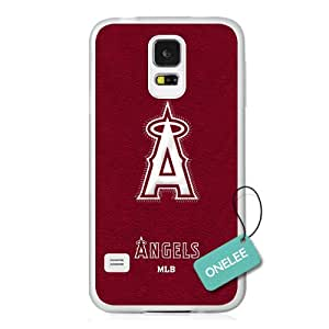 Onelee(TM) - MLB Team Los Angeles Angels of Anaheim Logo Samsung Galaxy S5 Case & Cover - Transparent plastic