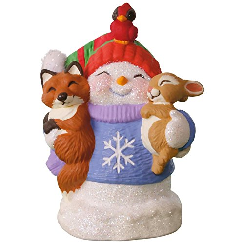 Hallmark Keepsake 2017 Snow Buddies 20th Anniversary Snowman, Fox and Squirrel Christmas Ornament (Ornament Snowman Collection)