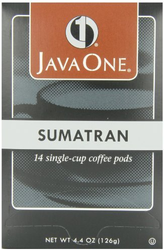 Pods 14 Count - Java One Sumatra Coffee, 14-Count Pods (Pack of 6) by Java One