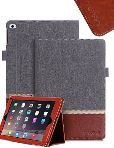 TOPSKY iPad Mini 4 Case ,Premium PU Leather And Fabric Case