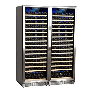 EdgeStar CWR1661SZDUAL 47 Inch Wide 332 Bottle Built-In Wine Cooler