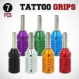 GotHobby 7pcs Mix Tattoo Machine Grips Aluminum Alloy w/ Stem