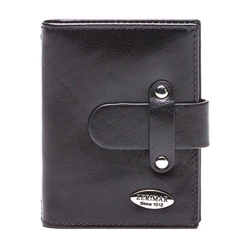 Porta Libro Zerimar Per Carte Multiple Realizzato In Pelle Premium: 39x35 In Nero