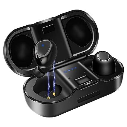 Auriculares Bluetooth, KUNGIX Auriculares Inalámbricos Bluetooth 5.0 Mini Twins Estéreo In-Ear Auriculares IPX4