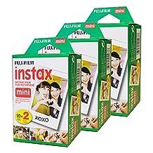 Fujifilm Instax Mini Film, White (Instax Mini Film 6x10)