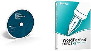 Dragon Professional Individual 15.0 with Corel WordPerfect Office X9 Home & Student, Dictate Documents and Control your PC – all by Voice [PC Disc]