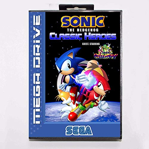 Sonic The Hedgehog Classic Heroes 16 Bit Md Game Card With Retail Box For Sega Mega Drive (Sonic The Hedgehog Genesis Of A Hero)
