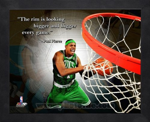 NBA Paul Pierce Boston Celtics Pro Quotes Framed 8x10 Photo