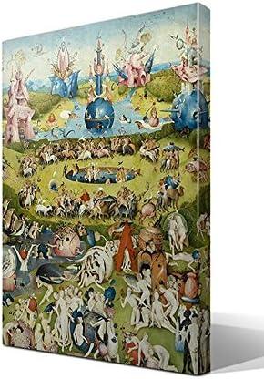 cuadro canvas El jardín de las Delicias de El Bosco - 40cm x 55cm: Amazon.es: Hogar