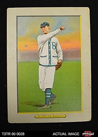 54c5805fad32f 1911 T3 Turkey Red   28 BRK Harry McIntire Brooklyn Dodgers (Baseball Card)  (