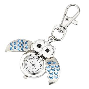 Cosanter Moda Llavero de búho con Colgante para Reloj de ...