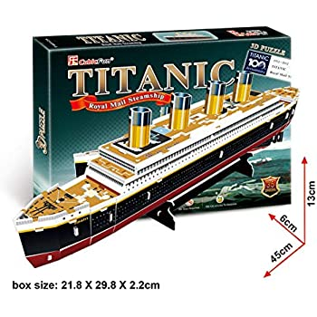 8bb22080 Amazon.com: Dimart Educational 3D Model Movie Titanic Ship DIY Toy ...