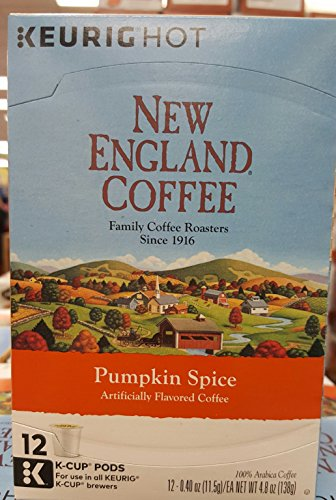 New England Coffee Pumpkin Spice K-cups, 12 Count (Pumpkin) (New England Pumpkin Spice)
