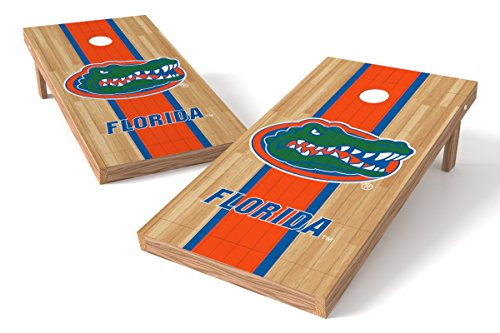 Wild Sports NCAA College Florida Gators 2' x 4' Hardwood Authentic Cornhole Game Set