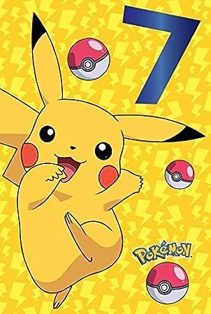 Pokemon 7th Birthday Card Pikachu Amazon Toys Games