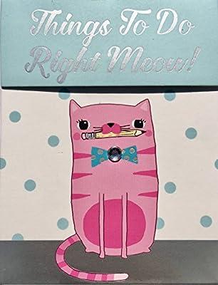 Molly y Rex de lámina plateada Gem Embellished gato Mini bolsillo bloc de notas ~ cosas a hacer derecho Meow. 61505