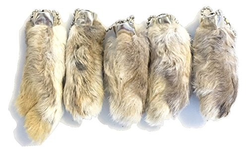Dangerous Threads Rabbit Rabbits Foot Keychain White, used for sale  Delivered anywhere in USA