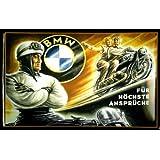 Rahmenlos plaque métallique pour moto bMW pour les utilisateurs exigeants passenger sIDE plaque publicitaire rétro scooter metal d'indication