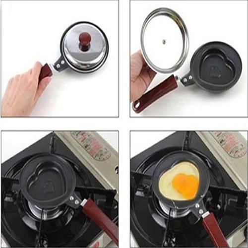 Water Amp Wood Metal Heart Shape Egg Fry Frying Pan With