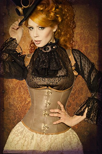 Steampunk underbust corset from Luxury Lingerie & Good Brown