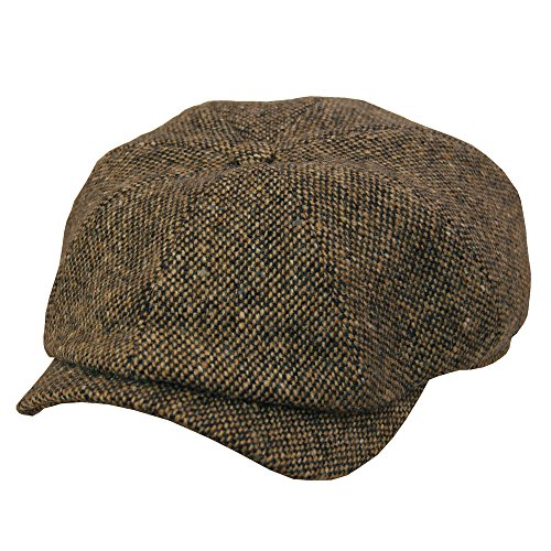 Wigens Hugo Newsboy Magee Classic Hat-LightBrown-58