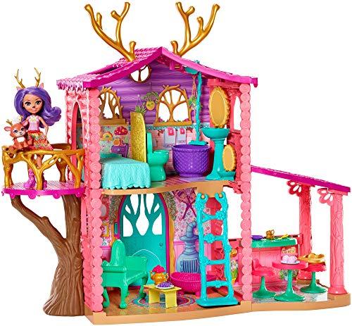 Enchantimals – Casa Danessa con muñeca Danessa y mascota, casa de muñeca con accesorios (Mattel GW90)