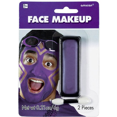 Purple Face Makeup, Party Accessory -