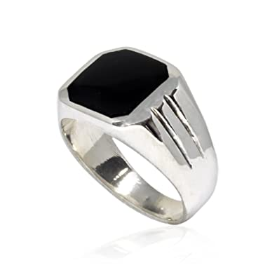 black listing onyx stackable gemstone au ring sterling kgeo il silver