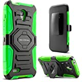 Evocel Alcatel OneTouch Conquest Case [New Generation] Rugged Holster Dual Layer Case [Kickstand][Belt Swivel Clip] For Alcatel OneTouch Conquest 7046T, Green (EVO-AL7046T-XX12)