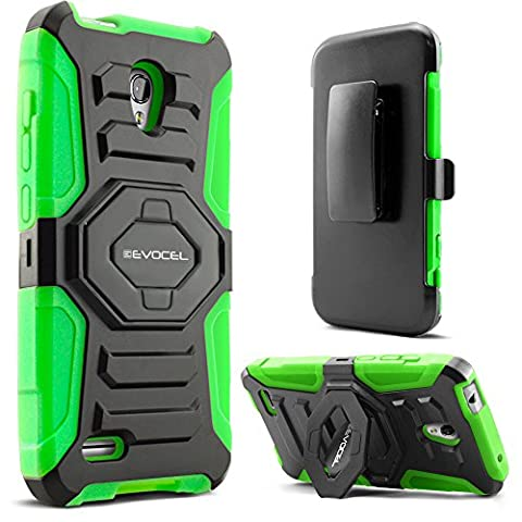 Evocel Alcatel OneTouch Conquest Case [New Generation] Rugged Holster Dual Layer Case [Kickstand][Belt Swivel Clip] For Alcatel OneTouch Conquest 7046T, Green (Evocel Case Alcatel)