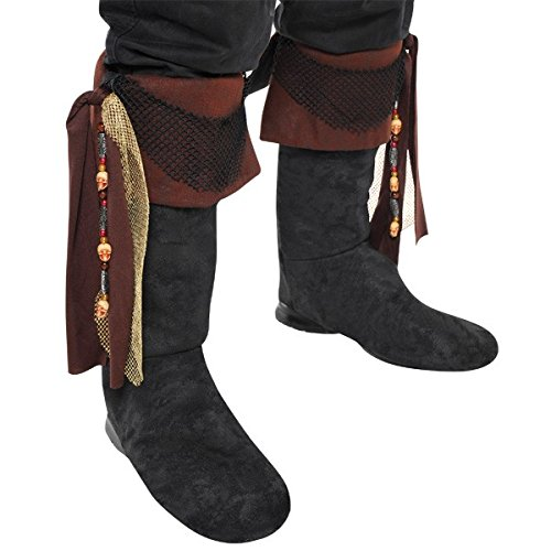 (AMSCAN Deluxe Pirate Boot Tops Halloween Costume Accessories for Adults, One)