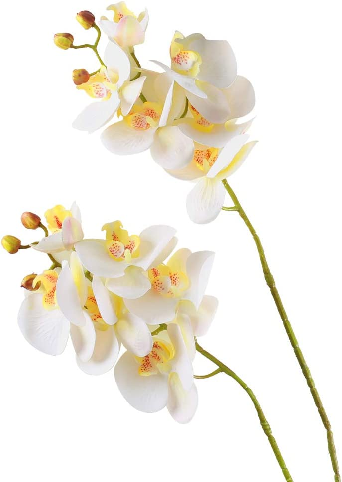Artificial White Orchid (Butterfly) Branches
