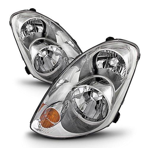 - ACANII - For [HID Model] 2005-2006 G35 G35X Sedan Headlights Headlamps 05-06 Replacement Set Driver + Passenger Side