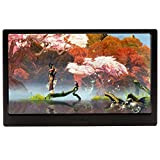 KKmoon Ultra Slim Portable IPS LCD Gaming Monitor with HDMI USB Ports Foot Stand Support 1080 Resolution USB Powered for PS4 Xbox one Console PC Desktop Laptop Camera