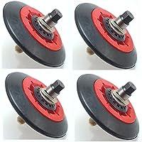 4 Pack - Dryer Drum Roller Assembly for LG, AP5688895, PS8260240, 4581EL2002C