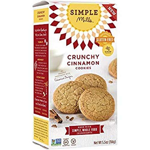 Gluten Emulsifier Free (Simple Mills Naturally Gluten-Free Crunchy Cookies, Cinnamon, 5.5 oz (6 Count))