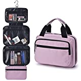 Hanging Toiletry Bag for Men & Women, GRM Waterproof Large Travel Cosmetic Pouch Shaving Kit Organizer Personal Hygiene Bag with Hook for Traveling Camping