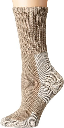 Thorlos Women's Wool Blend Light Hiking Crew Single Pair Khaki Heather Small